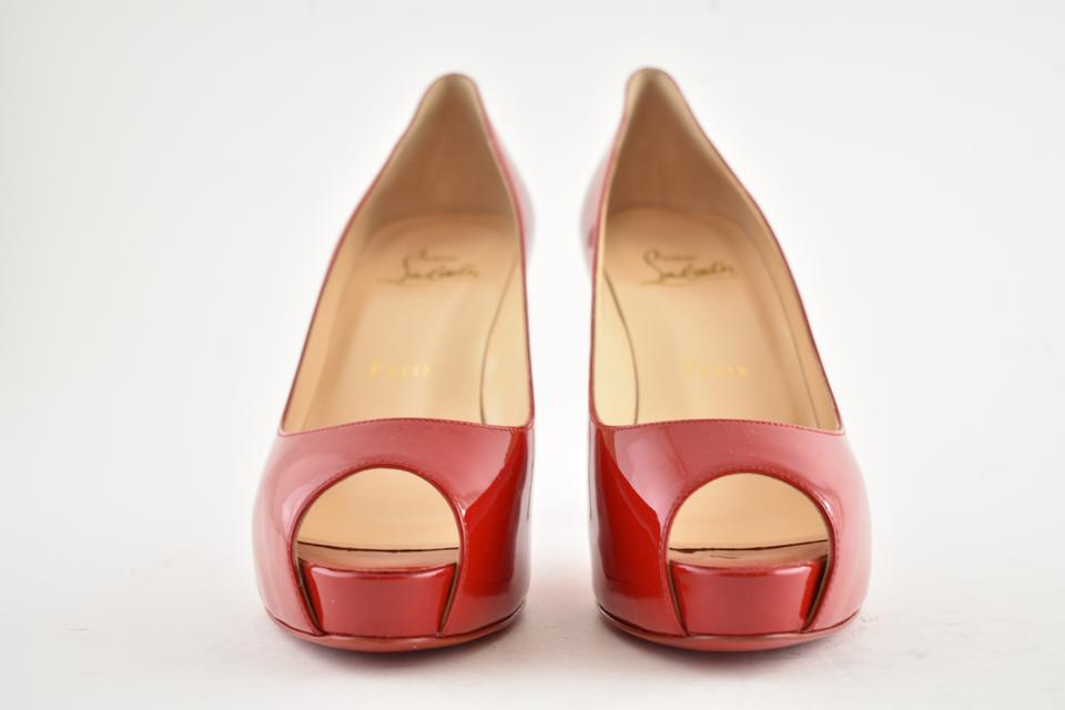 the latest a90a9 cf011 Christian Louboutin Red New Very Prive 100 Loubi Patent Leather Platform  Stiletto Heel Pumps Size EU 40 (Approx. US 10) Regular (M, B)