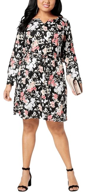 Preload https://img-static.tradesy.com/item/25854994/ny-collection-multicolor-floral-ruffle-trim-career-new-nw-short-casual-dress-size-24-plus-2x-0-1-650-650.jpg