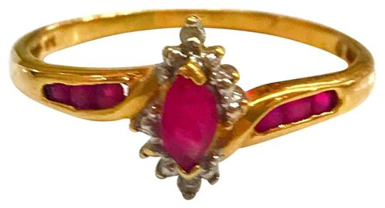 Preload https://img-static.tradesy.com/item/25855029/genuine-estate-collection-10-karat-yellow-gold-diamond-and-ruby-stone-ring-0-1-540-540.jpg