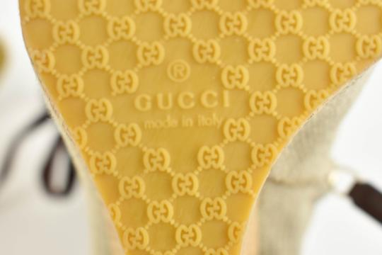 Gucci Logo Made In Italy Jute Beige Boots Image 11