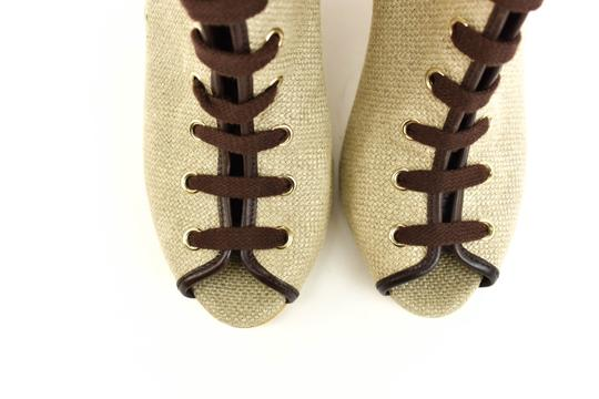 Gucci Logo Made In Italy Jute Beige Boots Image 4