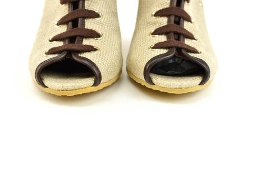 Gucci Logo Made In Italy Jute Beige Boots Image 5