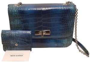 Neri Karra Missy Croc Effect Shoulder Bag