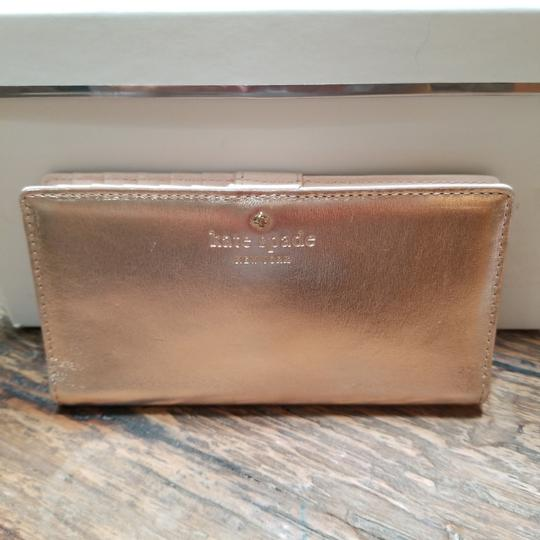 Kate Spade Kate Spade Rose Gold Stacy Wallet Image 1
