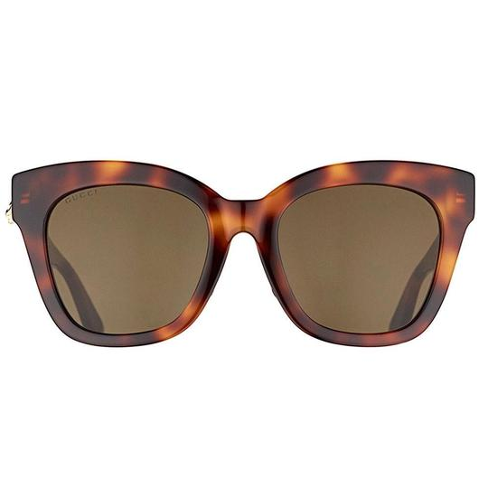 Gucci Havana Brown Square GG0029S-002 Image 4