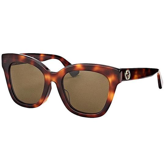 Gucci Havana Brown Square GG0029S-002 Image 5
