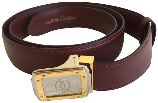 Preload https://img-static.tradesy.com/item/25855120/cartier-bordeaux-silver-gold-must-de-logo-belt-0-1-540-540.jpg