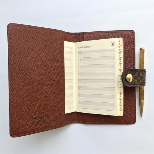 Louis Vuitton Monogram Agenda Address Book/ Card Holder Wallet Image 3