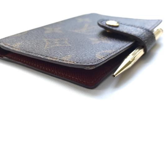 Louis Vuitton Monogram Agenda Address Book/ Card Holder Wallet Image 7