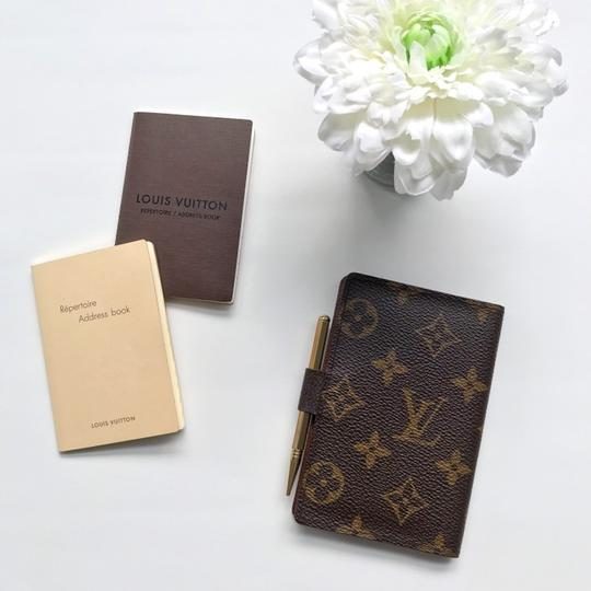 Louis Vuitton Monogram Agenda Address Book/ Card Holder Wallet Image 8