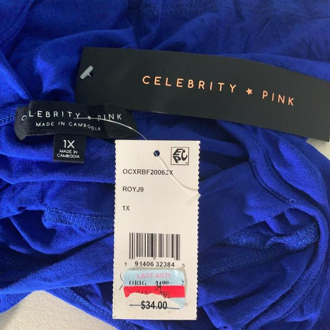 Celebrity Pink Rayon Top Blue Image 2
