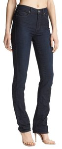 Paige Denim Classic Chic Fall Straight Leg Jeans-Dark Rinse