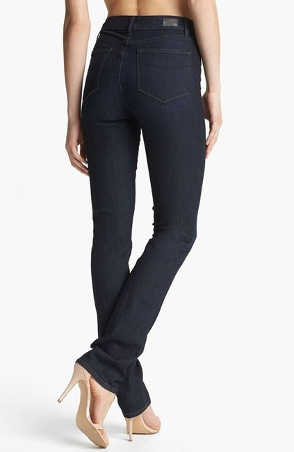 Paige Denim Classic Chic Fall Straight Leg Jeans-Dark Rinse Image 1