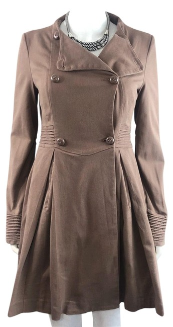 Preload https://img-static.tradesy.com/item/25855228/anthropologie-taupe-tulle-vintage-inspired-classic-double-breasted-button-front-swing-coat-size-4-s-0-1-650-650.jpg