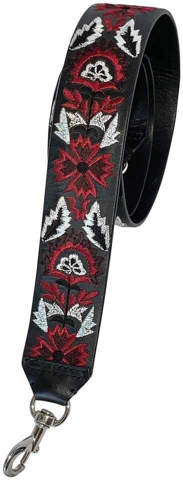 nordstrom black white red crossbody leather embroidered guitar strap purse strap tradesy. Black Bedroom Furniture Sets. Home Design Ideas