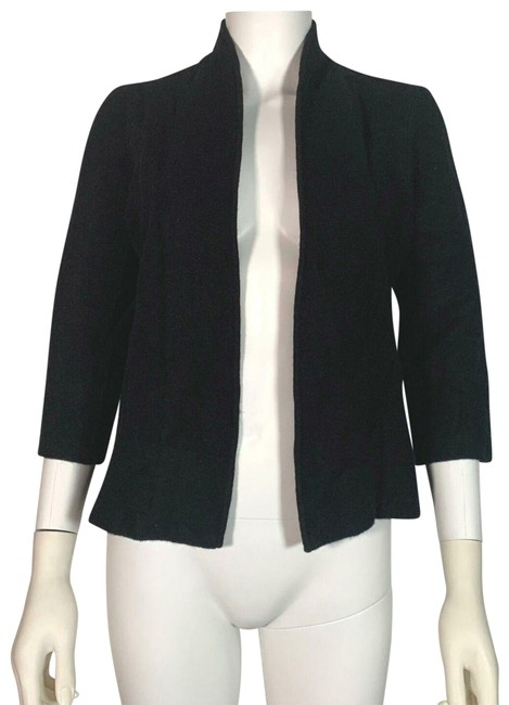 Preload https://img-static.tradesy.com/item/25855262/anne-klein-black-sweater-open-front-wool-women-s-cardigan-size-4-s-0-1-650-650.jpg