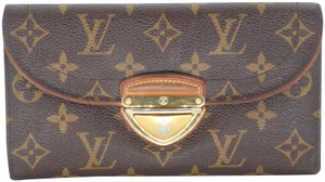 Louis Vuitton Monogram Coated Canvas Eugenie Logo Push-Lock Wallet