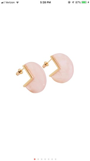 Unknown Rose Quartz Gold Plated Earrings Image 2