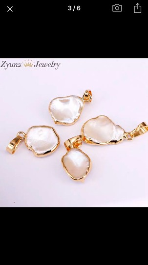 Unknown Rose Quartz Gold Plated Earrings Image 4