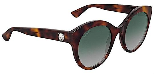 Gucci Brown with Tag Cateye Gg0028s 002 Havana 0028 Sunglasses Image 1