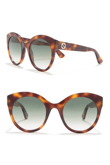 Gucci Brown with Tag Cateye Gg0028s 002 Havana 0028 Sunglasses Image 10