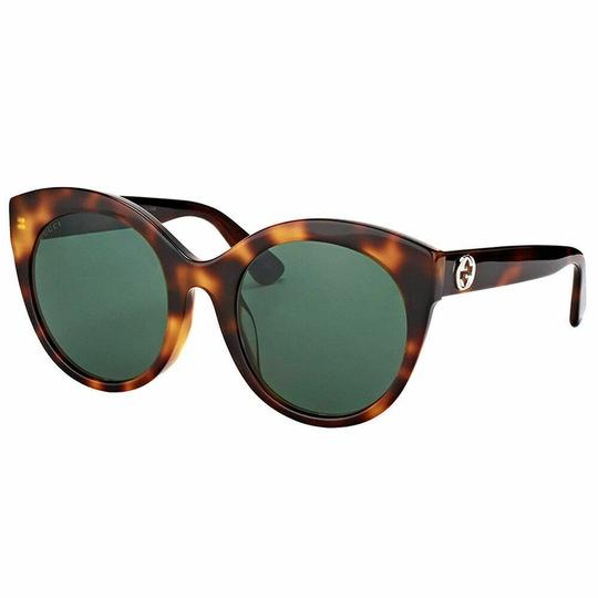 Gucci Brown with Tag Cateye Gg0028s 002 Havana 0028 Sunglasses Image 3