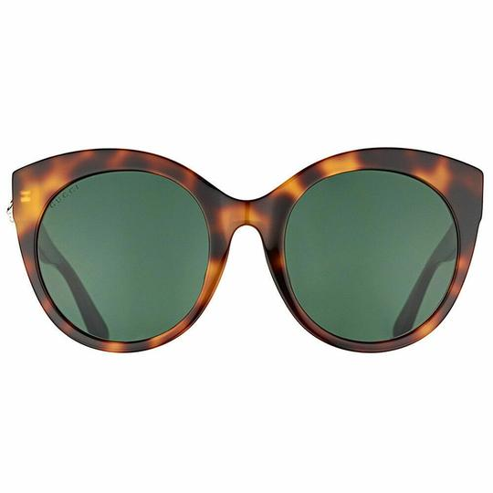 Gucci Brown with Tag Cateye Gg0028s 002 Havana 0028 Sunglasses Image 4