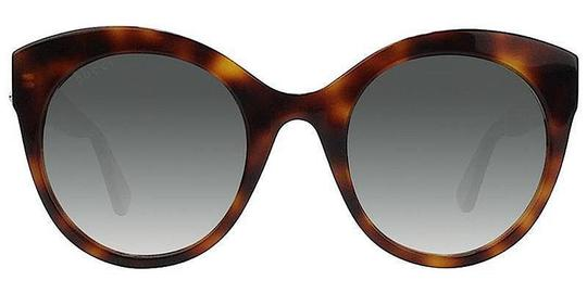 Gucci Brown with Tag Cateye Gg0028s 002 Havana 0028 Sunglasses Image 6