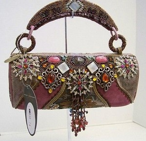 Mary Frances Pearl Beaded Multi-Color Clutch