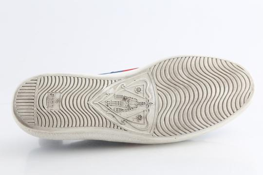 Gucci Blue Calfskin Embroidered Ace Web Sneakers Shoes Image 11
