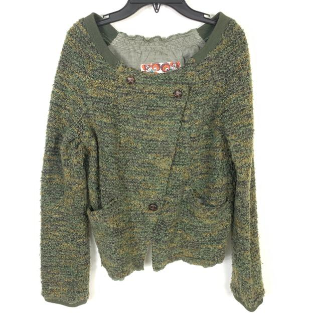 Preload https://img-static.tradesy.com/item/25855394/free-people-green-boucle-asymmetric-sweater-long-sleeve-jacket-size-8-m-0-0-650-650.jpg