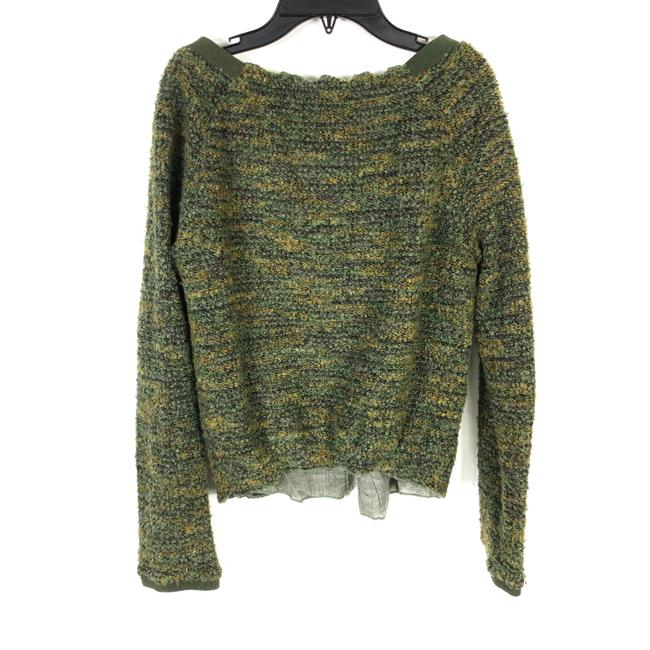 Free People Boucle Asymmetric Green Jacket Image 2