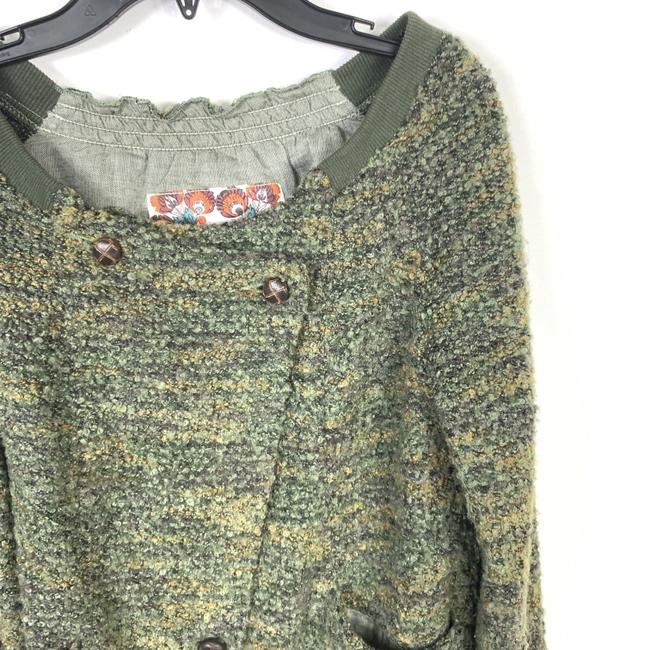 Free People Boucle Asymmetric Green Jacket Image 3