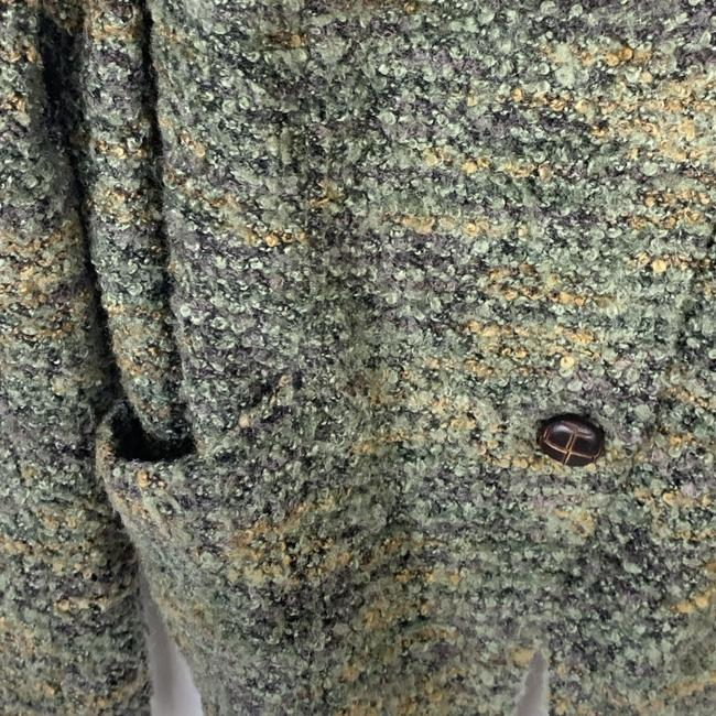Free People Boucle Asymmetric Green Jacket Image 4