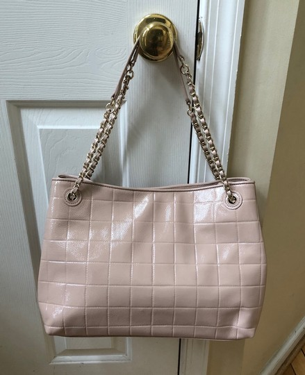 Tory Burch Marion Marion Quilted Patent Leather Very Tote in Light Oak Image 1