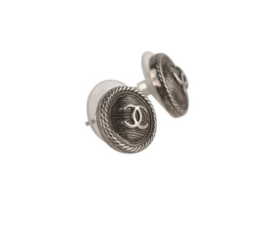 Chanel Round Textured CC Earrings Image 1
