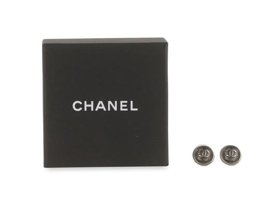 Chanel Round Textured CC Earrings Image 11