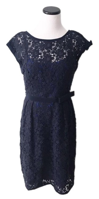 Preload https://img-static.tradesy.com/item/25855447/nanette-lepore-blue-sleeve-lace-sheath-with-bow-belt-short-cocktail-dress-size-6-s-0-1-650-650.jpg