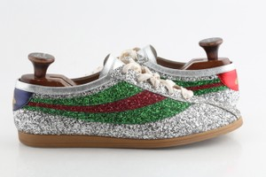 Gucci Multicolor Glitter Web Falacer Sneakers Shoes