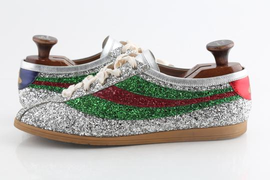 Gucci Multicolor Glitter Web Falacer Sneakers Shoes Image 1