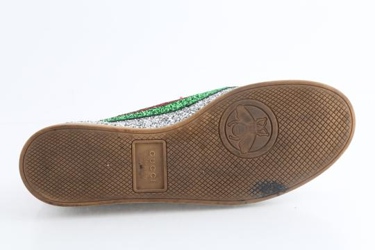 Gucci Multicolor Glitter Web Falacer Sneakers Shoes Image 11
