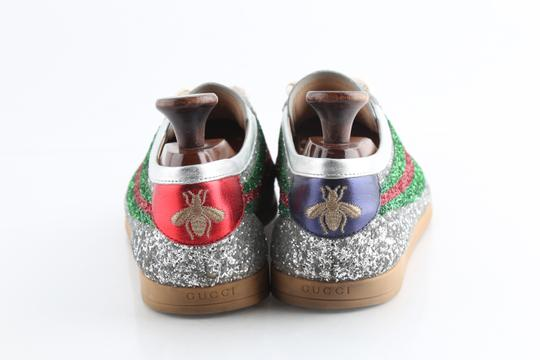 Gucci Multicolor Glitter Web Falacer Sneakers Shoes Image 3