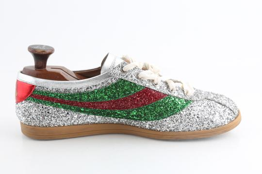 Gucci Multicolor Glitter Web Falacer Sneakers Shoes Image 4