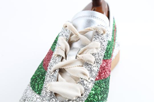 Gucci Multicolor Glitter Web Falacer Sneakers Shoes Image 6