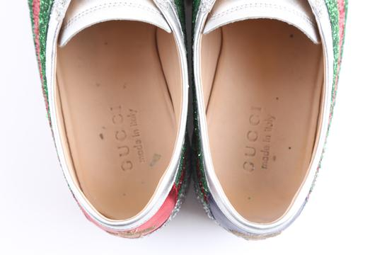 Gucci Multicolor Glitter Web Falacer Sneakers Shoes Image 9