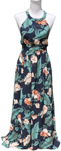 Navy and green Maxi Dress by Brigitte Bailey