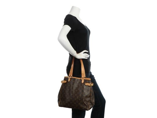 Louis Vuitton Lv.q0619.16 Leather Belted Gold Hardware Reduced Price Tote in Brown Image 10