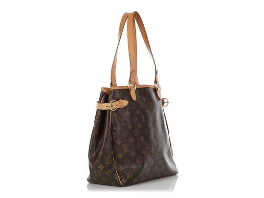 Louis Vuitton Lv.q0619.16 Leather Belted Gold Hardware Reduced Price Tote in Brown Image 2