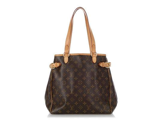 Louis Vuitton Lv.q0619.16 Leather Belted Gold Hardware Reduced Price Tote in Brown Image 3