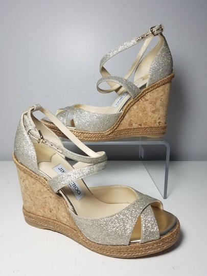 Jimmy Choo platinum ice glitter Sandals Image 1